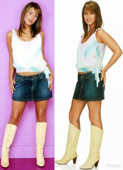 Megan Fox Minifalda Vaquera Con Botas